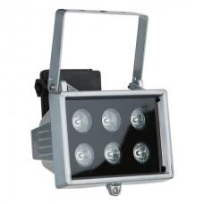 Showtec LED Floodlight 6x 1W, 40° уличный светодиодный прожектор оранжевого света
