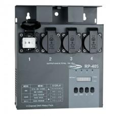 Showtec RP-405 MKII Relay Pack 4-х канальный настенный релейный блок переключения